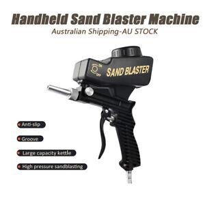 Gravity Sand Blaster Gun Portable Small Sandblasting Tool Handheld Spray Machine