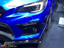 Fit 2015+ Subaru WRX STI GT Type Carbon Fiber CF Front Bumper Canards Splitter