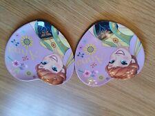 Disney Frozen Heart Shaped Kids Plastic Plates