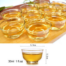 30ml Small Size Heat Resistant Clear Glass Tea Mug Gongfu Tea Cup