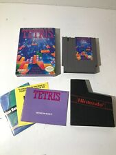 TETRIS NES VIDEO GAME NINTENDO COMPLETE IN BOX W/ RARE BO JACKSON POSTER