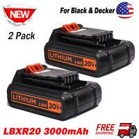 2Pack 20V 3.0AH Slide Battery For Black & Decker LBXR20 LBXR2020-OPE Lithium USA
