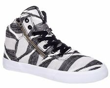 Supra Footwear Womens Black Striped White Cuttler High Top Sneaker Shoes 6US NIB