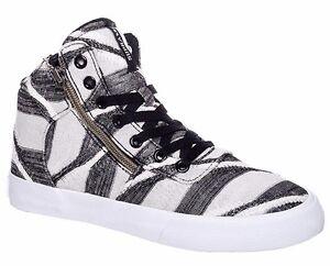 Supra Footwear Womens Black Striped White Cuttler High Top Sneaker Shoes 6US NIB