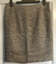 Ann Taylor Petite Size 10P Pencil Skirt Textured Metallic Gold Fully Lined