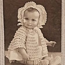Baby Toddler Knit Clothing Patterns Book Chadwick Red Heart Brand 1943 Vol 197