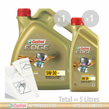 Engine Oil Service Kit: 5 litres of Castrol EDGE 5w30