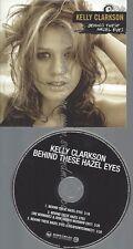 PROMO CD--KELLY CLARKSON--BEHIND THESE HAZEL EYES--3TR