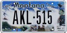 Original-Kfz-Kennzeichen  MONTANA AKL-515  License Plate USA