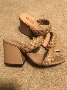 NWOB Schultz Braided Heel Sandal Size 7.5