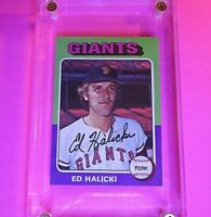1975 Topps #467 Ed Halicki RC Rookie Giants High Grade! NmMt Centered & sharp