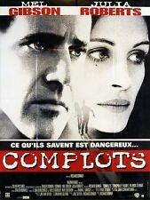 Affiche 40x60cm COMPLOTS /CONSPIRACY THEORY 1997 Mel Gibson, Julia Roberts TBE