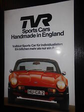 Prospekt Sales Brochure TVR 3000M  Technische Daten V6 Motor Coupe Auto Car