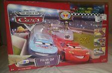 Disney Pixar's Cars - Piston Cup 500 Track Set w/ 4 Cars-RARE Racing Mcqueen SET