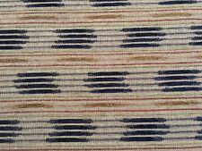 Fabricut Chenille Ethnic Upholstery Fabric- Soho Stripe / Lapis 3.70 yd 5784002