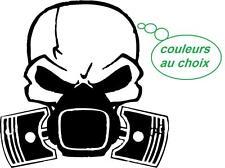 Autocollant sticker tuning JDM drift voiture moto macbook skull piston-choi coul