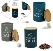 Villa d'este Set 3 Barattoli caffè zucchero sale NATURAL scrita tappo cucina