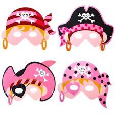 x 6 niña rosa pirata foam Máscaras - Disfraz Relleno Bolsa Fiesta Máscara