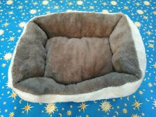 Cat Bed Pet Fleece Unused New Soft Material Good Condition Small Dog Beige Brown