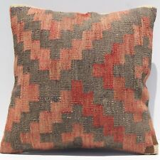 "decorative pilllow 16""x16"" Kurdish kilim pillow cover Handmade kilim area rugs"