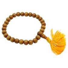 Indian Rose Wood Brown Ethnic Rosary Japa Mala Prayer 3-5MM 28 Beads JM4B