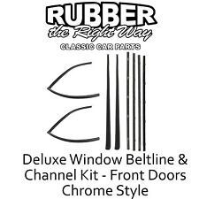1967 - 1972 Chevy GMC Suburban Deluxe Window Beltline & Run Channel Kit - 8 pc.
