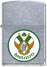 Irlandais Pride Drapeau De Irlande avec Vert Trèfle Chrome Briquet Zippo