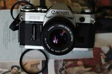 Canon AE-1 35mm SLR Film Camera with FD 50 mm lens Kit