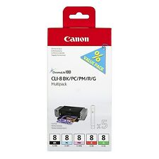 Canon CLI-8 Inkjet Cartridge Black/Photo Cyan/Photo Magenta/Red/Green