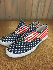 Womens Vintage 90s Keds U.S.A American Flag Lace Up Sneakers Shoes Sz 8