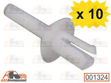 10 RIVETS NEUFS 3,5mm en plastique blanc pour Citroen 2CV DYANE MEHARI  -1324-