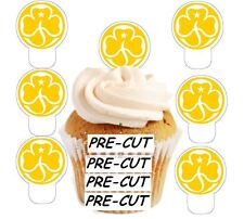 brownie badge logo 24 edible stand up cup cake toppers wafer paper pre-cut