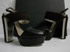 Calvin Klein Collection EU 38.5 US 8.5 M Avra Black Suede Heels New Womens Shoes