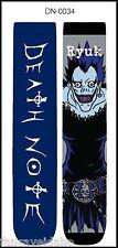 Anime Death Note Text / Ryuk Unisex 2 Pair Crew Cut Socks Cosplay - One Size