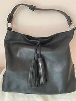 Osprey Genuine Black Leather Hobo Bag