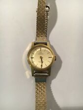 ORIGINAL VINTAGE OMEGA GENEVE Ladies WATCH Wind Up Works Gold Plated 485 Mvmt