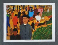 Vintage Print Puerto Rican Artist Frank Diaz Escalet Latin American Art