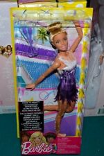 NEW-2017-MADE TO MOVE RHYTHMIC GYMNAST BARBIE DOLL: ARTICULATED-BATONS-BLONDE