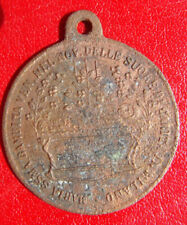 SACRED HEART OF JESUS/ BABY MARY RARE ANTIQUE BRASS RELIGIOUS MEDAL PENDANT