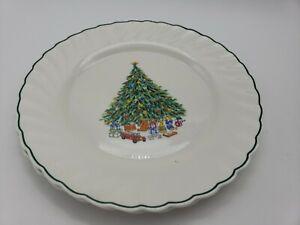 "LOT OF 3 SALEM PORCELLE NOEL DINNER PLATES CHRISTMAS TREE 10 3/4"""