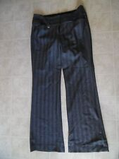 Women Express Editor Pants Gay Striped  Sz 6 x 32 Inseam