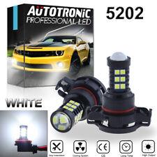 2X 5202 H16 Projector LED Fog Light Bulbs 6000K Xenon White High Power Upgrade