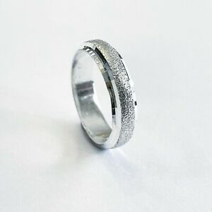 Pure Silver 999 Wedding Band Ring 5mm For Men And Women Handmade In The UK 🇬🇧