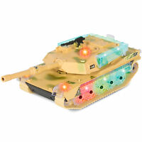 Kids Toy Military Army Tank, Flashing Lights and Sound, Bump and Go Action