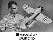 """Model Airplane Plans (UC): Brewster Buffalo 1/12 Scale 35"""" .35-64 (Navy Carrier)"""