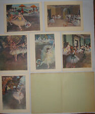 Degas Dancers and Ballet Scenes A Portfolio of 6 11X14 Color Prints for Framing