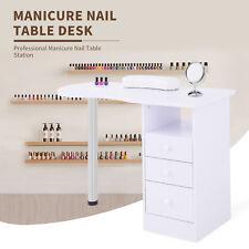 Manicure Nail Table Station Desk W/ Drawers Spa Beauty Salon Beauty Equipment