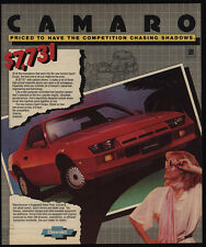 1982 CHEVROLET CAMARO Red Sports Coupe - Car - VINTAGE AD