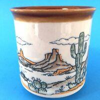 Otagiri Desert 12 oz Coffee Mug Cactus Plateau Mountain Landscape Tea Cup Vtg