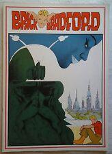 BRICK BRADFORD tavole domenicali a colori collana gertie daily 92 comic art 1980